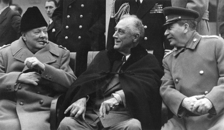 Churchill, Roosevelt et Staline