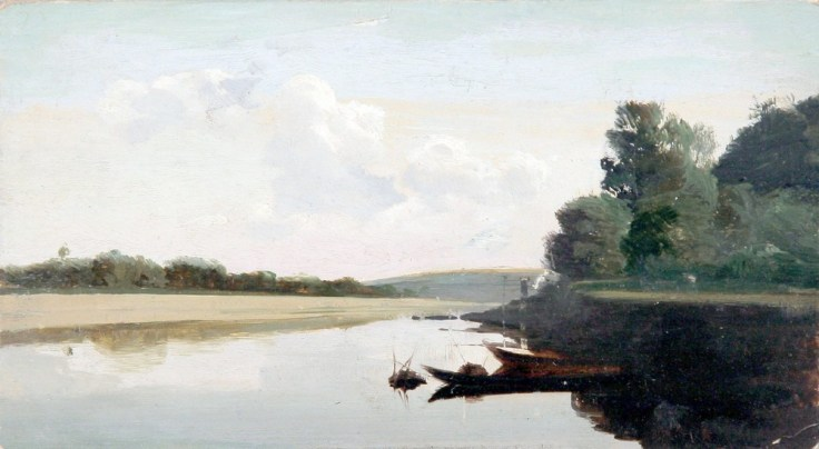 Nikolai Nikanorovich Dubovskoy - Paysage avec un bateau - 1890