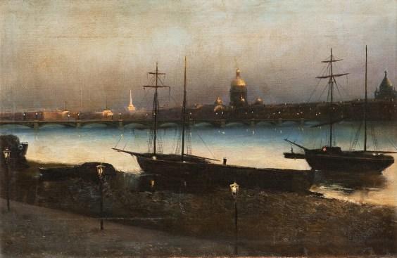 Nikolai Nikanorovich Dubovskoy - Saint-Petersbourg le soir
