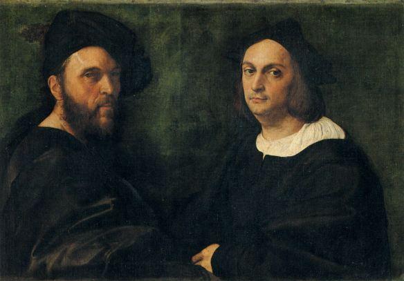 Raphaël (Raffaello Sanzio) - Double Portrait Andrea Navagero et Agostino Beazzano (1516 - 76 x 107 cm)