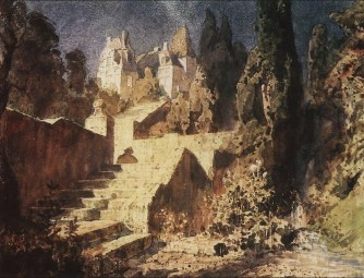 Vasili Dimitrievich Polenov (1844 - 1927) - Escalier menant au château - 1883