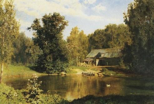 Vasili Dimitrievich Polenov (1844 - 1927) - Etang à Abramtsevo - 1883
