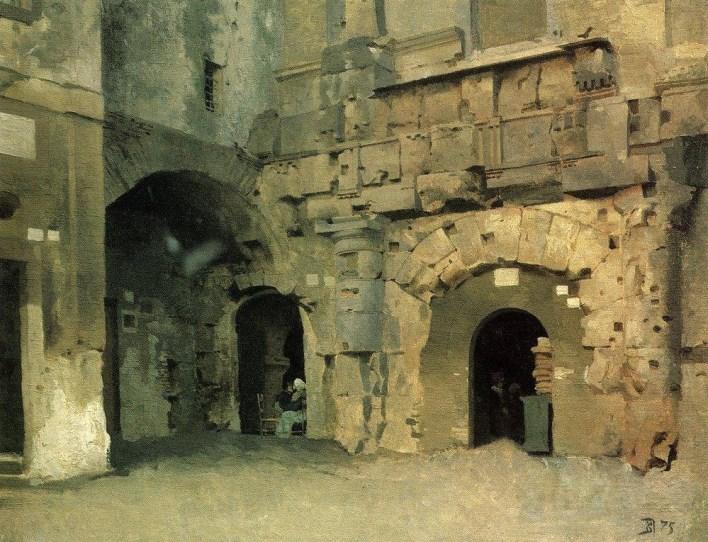Vasili Dimitrievich Polenov (1844 - 1927) - Scène de rue - 1875