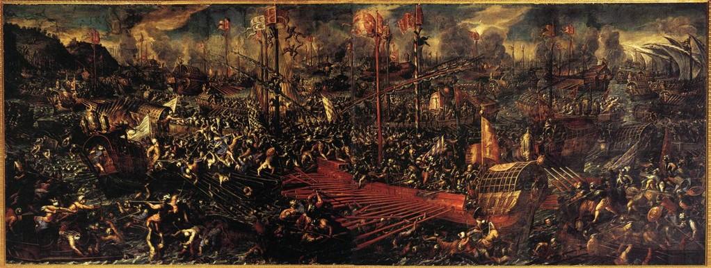 Andrea Vicentino - La bataille de Lépante, 1603, Palazzo Ducale, Venise