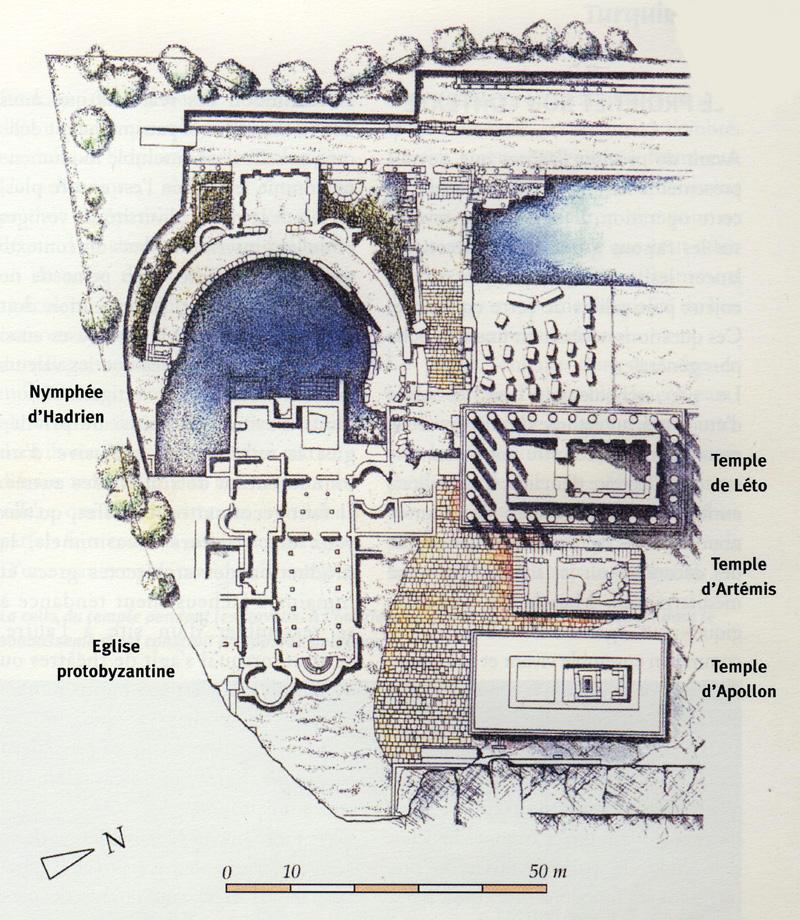 Plan du Letoon