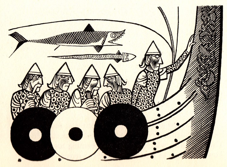 Beowulf (1) - illustration par Severin - 1954