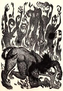 Beowulf (3) - illustration par Severin - 1954