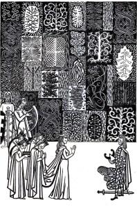 Beowulf (5) - illustration par Severin - 1954
