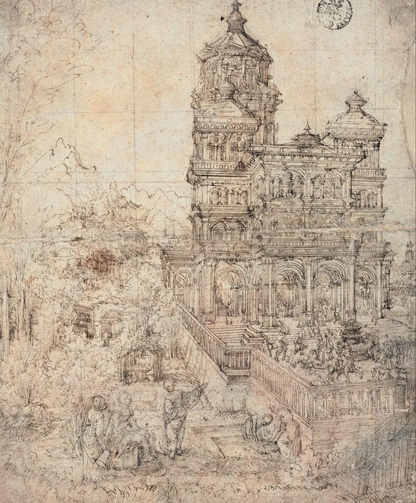 Albrecht Altdorfer - Suzanne au bain - Dessin à la plume - 33x27cm - Museum Kunstpalast - Sammlung der Kunstakademie - Düsseldorf