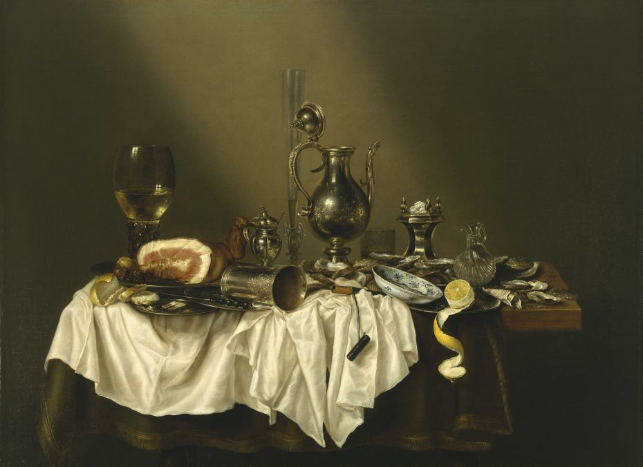 Willem Claeszoon Heda - Festin de jambon - 1656 - 152x111cm - The Museum of Fine Arts - Houston