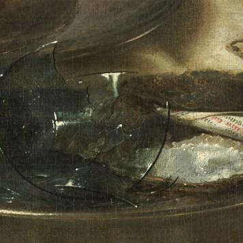 Willem Claeszoon Heda - Nature morte à la tartelette (Détail verre cassé) - 1635 - 106x111cm - National Gallery of Art - Washington
