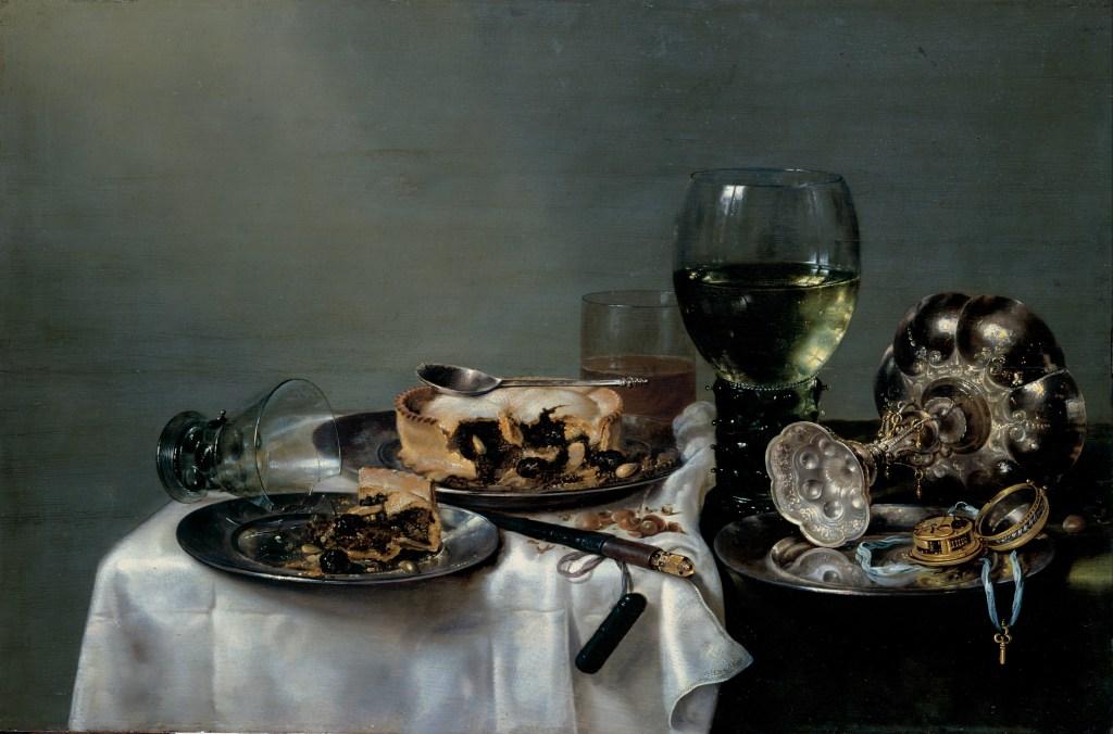 Willem Claeszoon Heda - Nature morte à la tourte aux mûres - 1631 - 54x82cm - Gemäldegalerie Alte Meister - Dresde