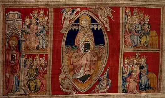Christ en majesté avec les 24 vieillards et les 4 vivants, Tapisserie de l'Apocalypse - Angers