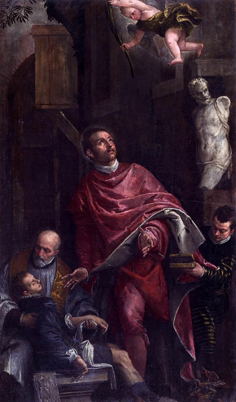 Paolo Veronese - Conversion de Saint-Pantaléon - Chiesa di San Pantalon martire 1588 - Venise