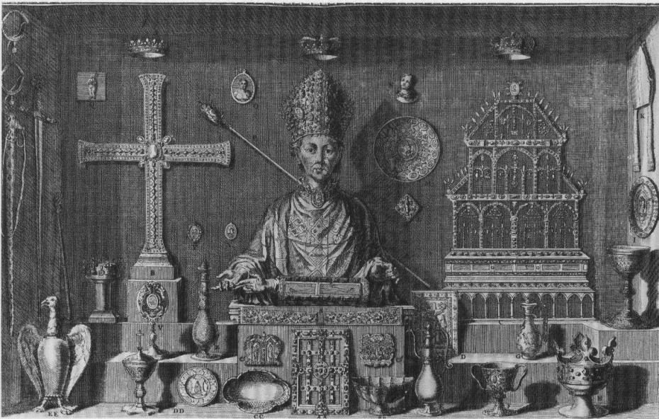 Dom Michel Félibien - Trésor de Saint-Denis (1706) - Planche issue de l'Histoire de l'abbaye royale de Saint-Denys en France
