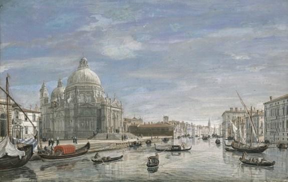 Gaspar Vanvitelli - Canal et Santa Maria della Salute (étude)