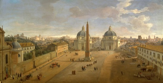 Gaspar Vanvitelli - Veduta di piazza del Popolo a Roma