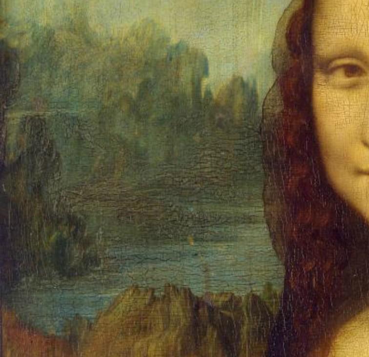 Leonardo da Vinci - La Joconde (1503-1506) - Paysage gauche - Le Louvre - Paris