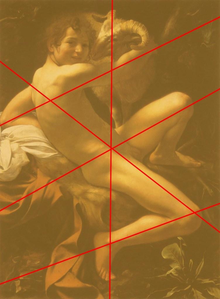 Michelangelo Merisi da Caravaggio le jeune Saint Jean-Baptiste au bélier (composition) - 1602 - 129x95 - Rome, Musei Capitolini, Pinacoteca