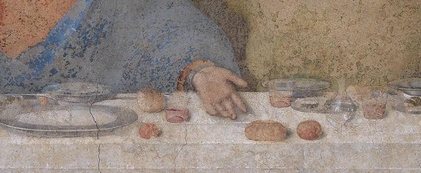 La cène (main gauche du Christ) - Leonardo da Vinci - 1494-1498 - Santa Maria delle Grazie - Milano