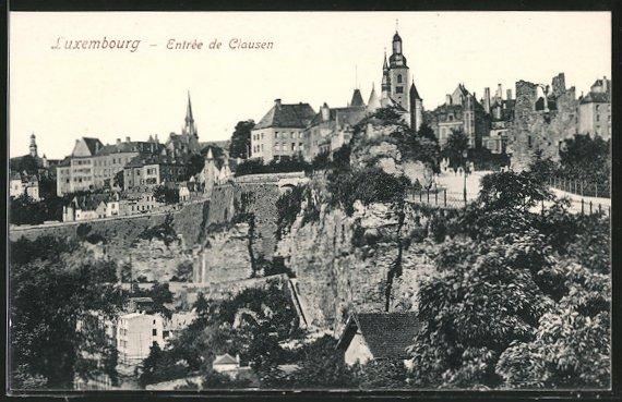 Luxembourg - Entrée de Clausen
