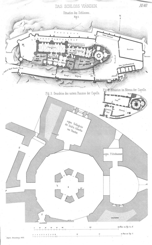 Plan du château de Vianden (Das Schloss Vianden)