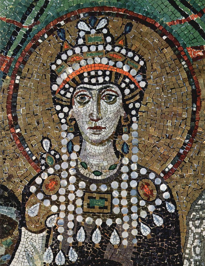 Mosaïque de San Vitale de Ravenne - Portrait de l'impératrice Théodora