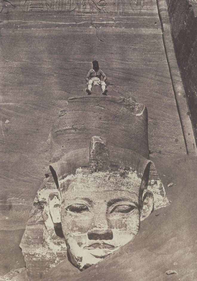 Maxime Du Camp - Statue colossale de Ramses à Abu Simbel