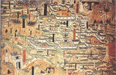 Fresque des grottes de Mogao 4