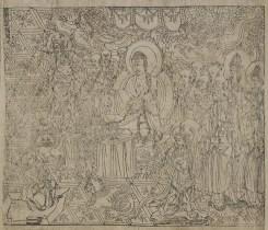 Sutra du diamant - grotte de Dunhuang - Aurel Stein - illustration