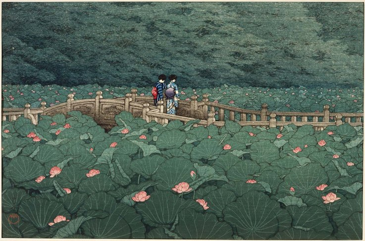 L'étang de Benten à Shiba