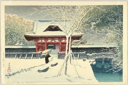 Scène de neige