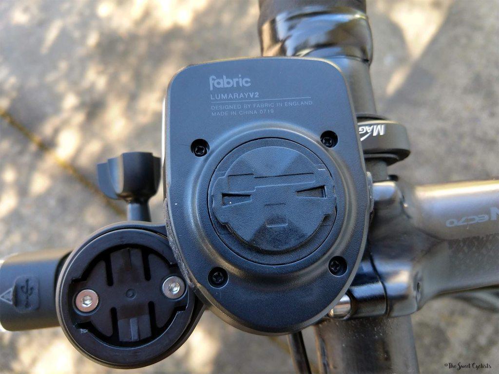 Fabric Lumaray V2 - Garmin adapter on bottom