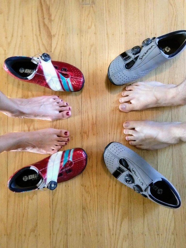 Heat Molding Cycling shoes - feet