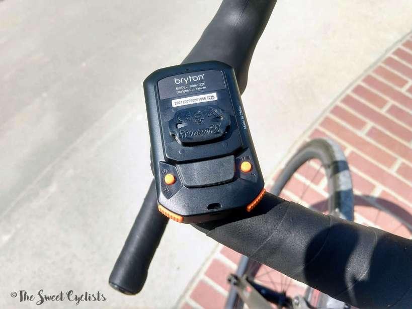 Bryton Rider 320 - screen