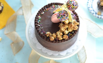 Chocolate Ganache Cake, made pretty by the sweet edge