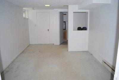 basement reno ripping up carpet and