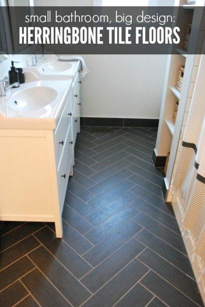 bathroom design herringbone tile floor
