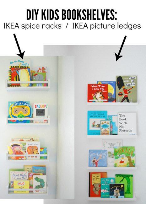 how to use ikea spice racks for books