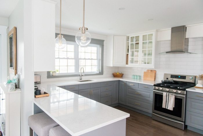 A Gray And White IKEA Kitchen Transformation THE SWEETEST DIGS