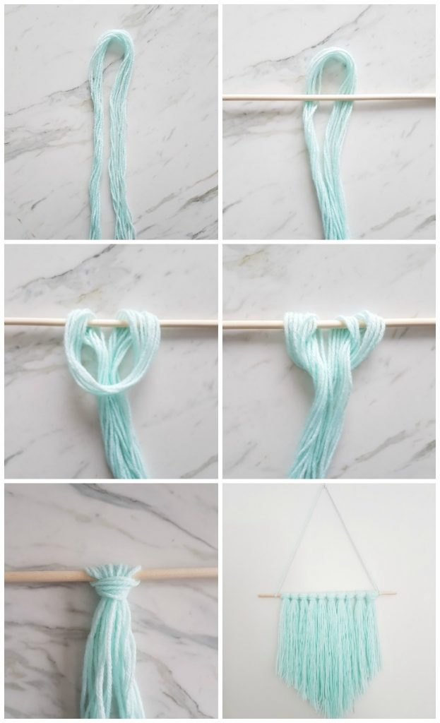 How to Make an Easy DIY Wall Hanging with Yarn - A Quick ... on Picture Hanging Idea  id=20546
