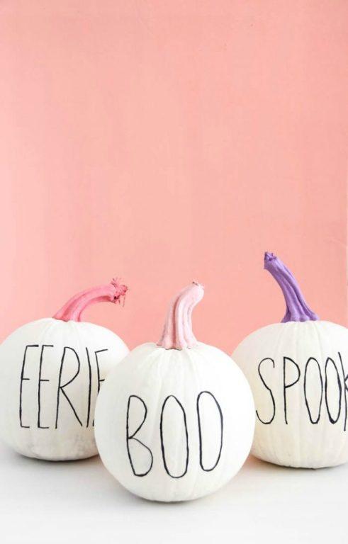 Pumpkin Decorating Ideas Pastel