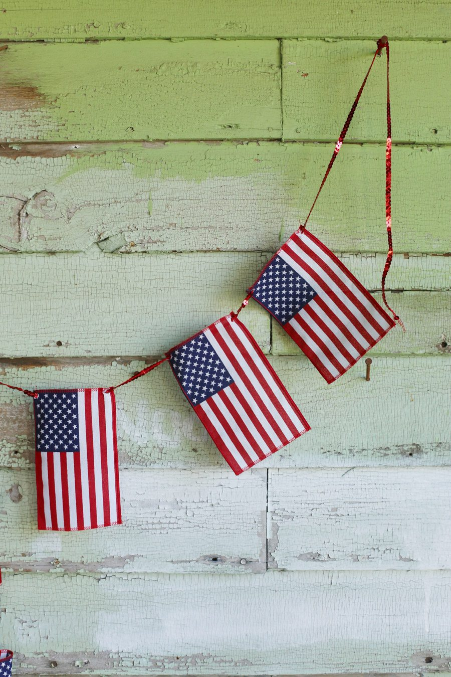 DIY American Flag Bunting The Sweetest Occasion