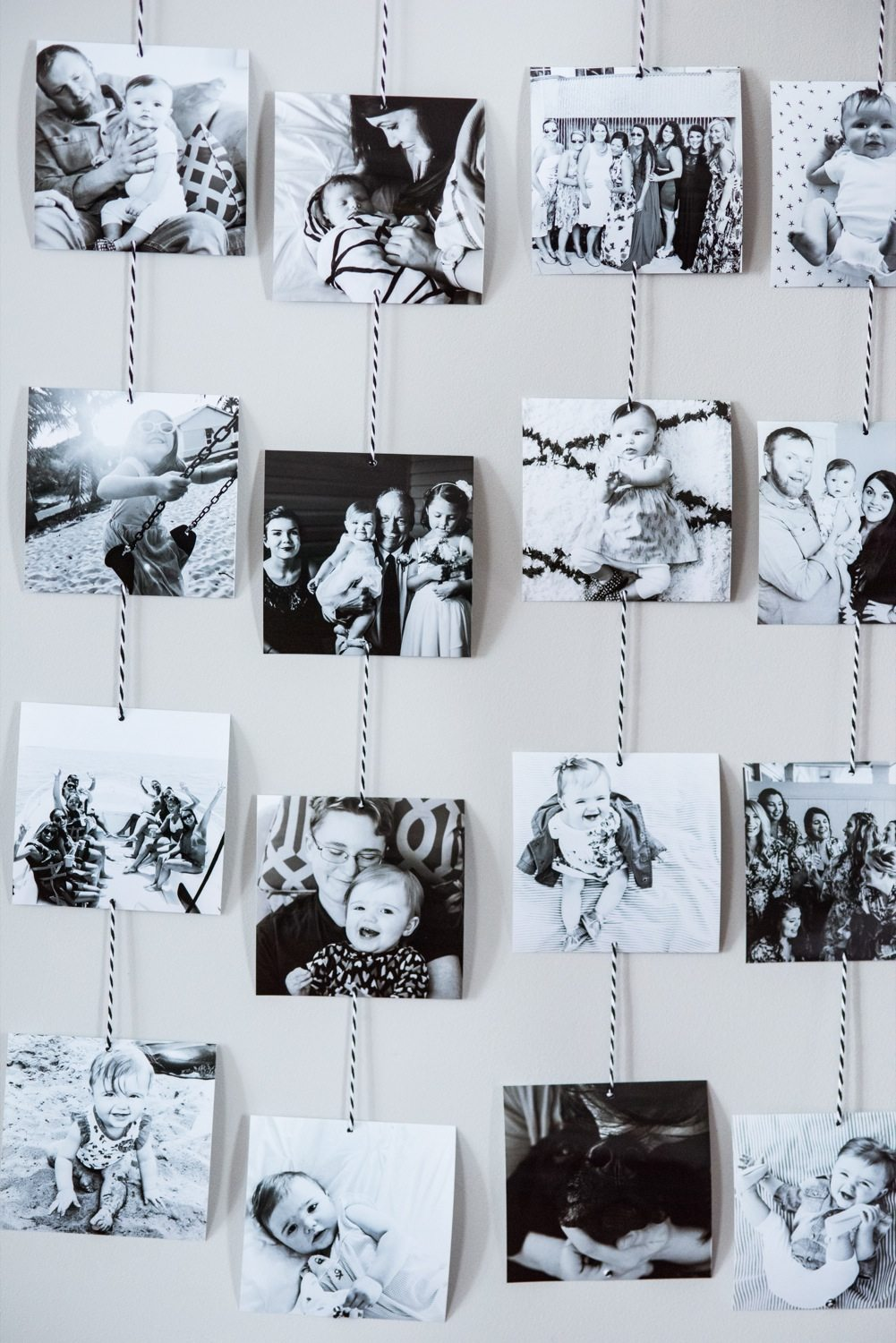 DIY Family Photo Wall Hanging - The Sweetest Occasion on Picture Hanging Idea  id=12420