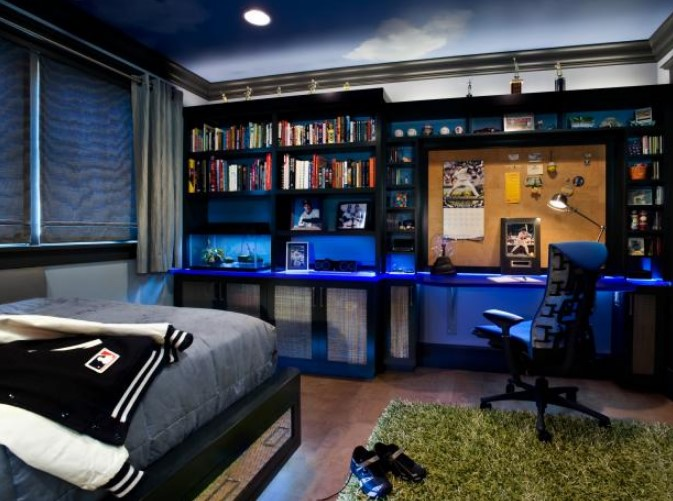 40 Cool Boys Bedroom Ideas for Your Inspiration on Cool Rooms For Teenage Guys  id=57983