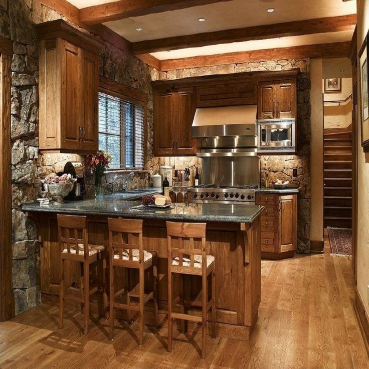 15+ Stunning Rustic Kitchen Design on Rustic Traditional Decor  id=79879
