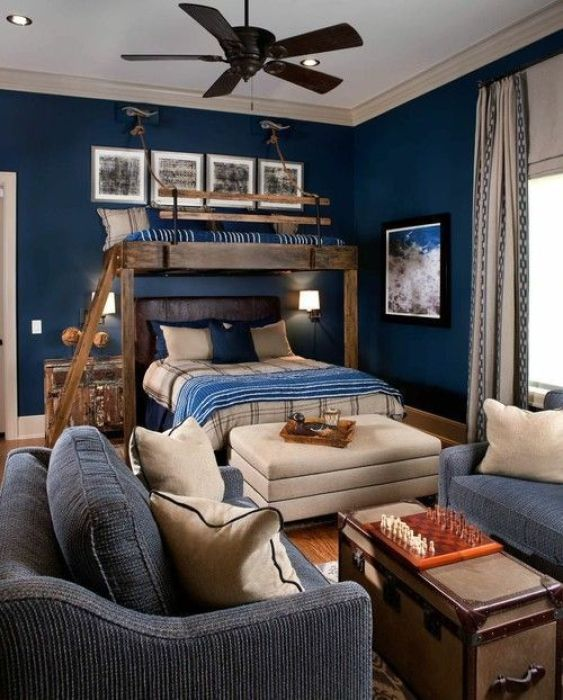 85+ Cool Boys Bedroom Ideas for Your Inspiration on Teenage Room Colors For Guy's  id=13738