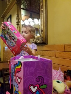 Boys had to get her a Lego set!