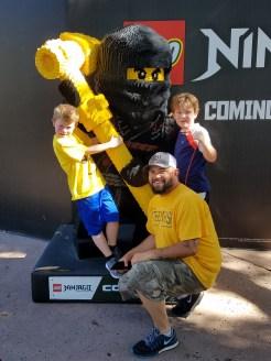 Boys excited to show Dave upcoming Ninjago land