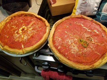 2 pizzas from Giordanos